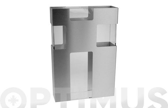 Florero vidrio aluminio mate 20 x 30