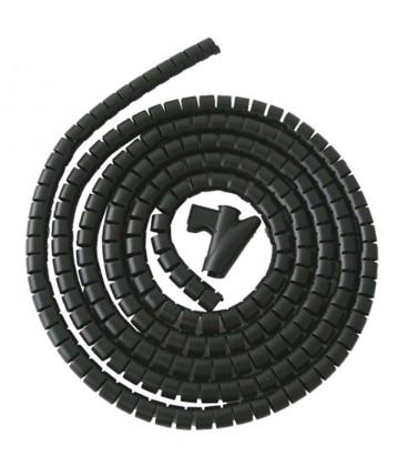 Recogedor de cables easy cover 3m-15mm negro