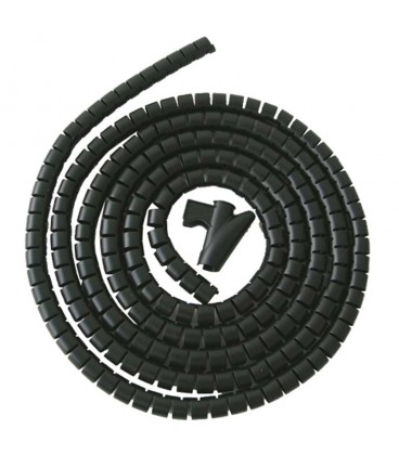 Recogedor de cables easy cover 2m-25mm negro