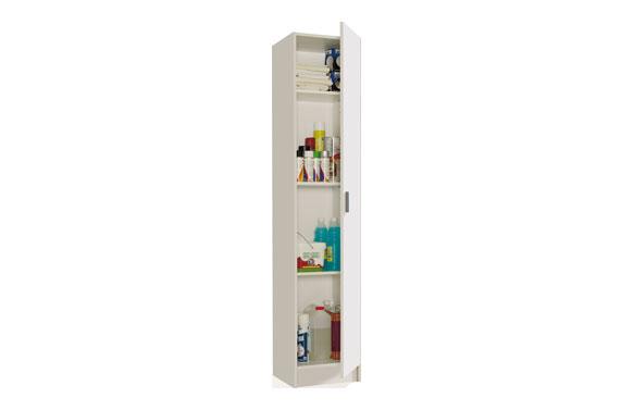 Armario multiuso estantes 1 puerta blanco 180 x 37 x 37 cm