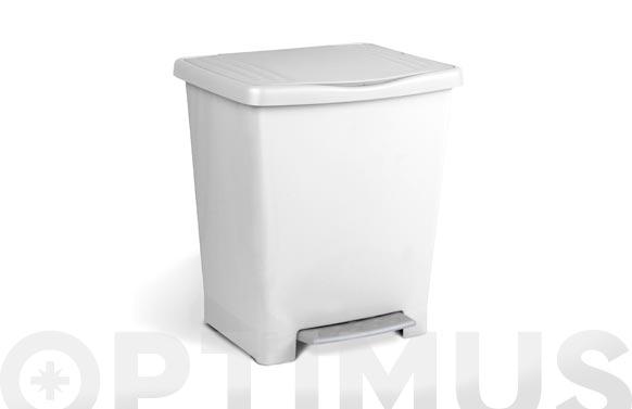 Cubo con pedal milenium 23 l blanco 33 x 28 x 39 cm