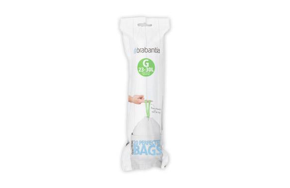 Bolsa basura cierra facil 20 uds 23-30 l