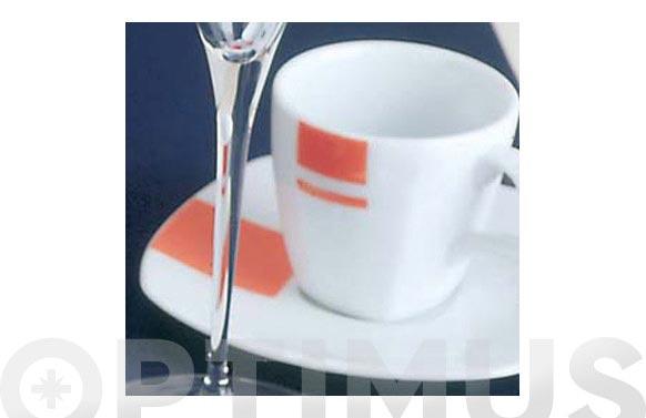 Taza cafe y plato porcelana juego 6 unidades decorado lotto dance