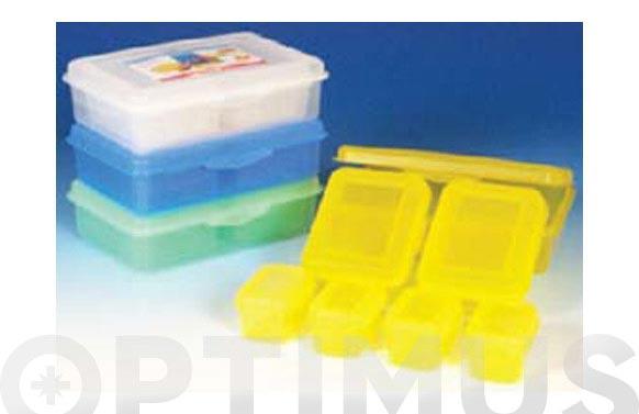 Contenedor hermetico apilable lote 7 unidades diferentes medidas transparentes