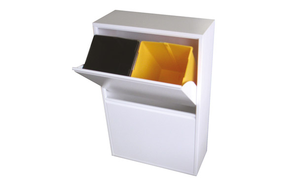 Contenedor basura ecologico 4 dep blanco