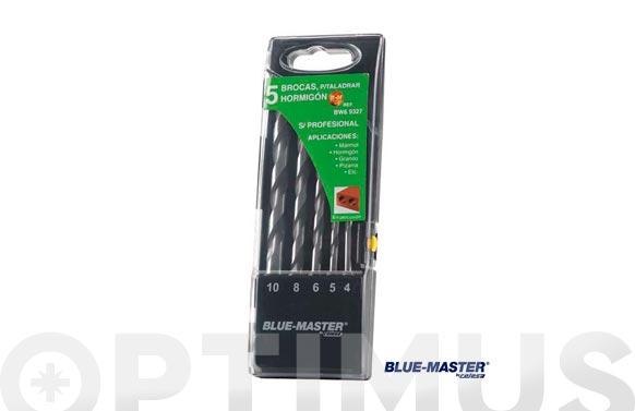 Broca pared profesional cilindrica md juego 4-5-6-8-10 mm