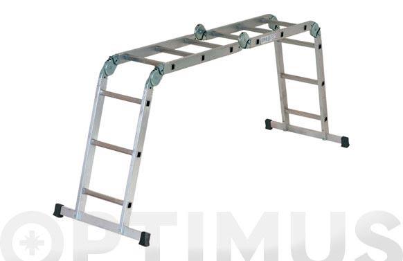Escalera multiple aluminio multipla 4 x 3 peldaños