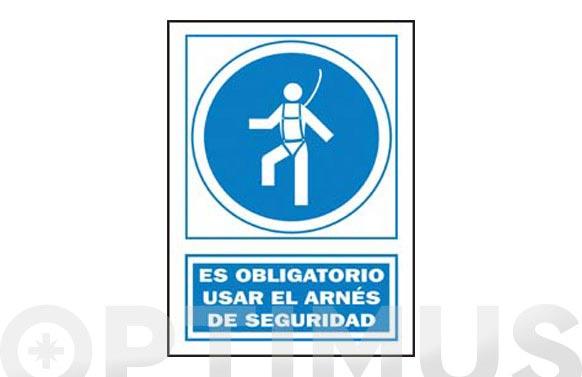 Señal obligacion catalan 297x210 mm obligatori l ús del arnes