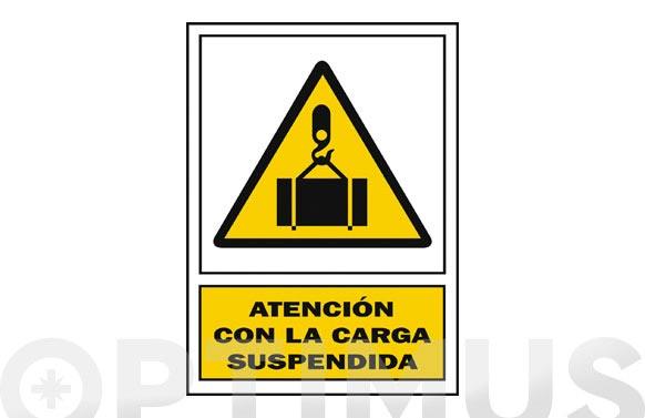 Señal advertencia castellano 297x210 mm carga suspendida