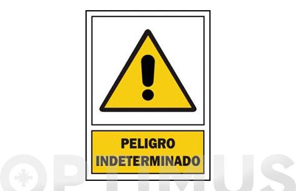 Señal advertencia catalan 297x210 mm perill indeterminat