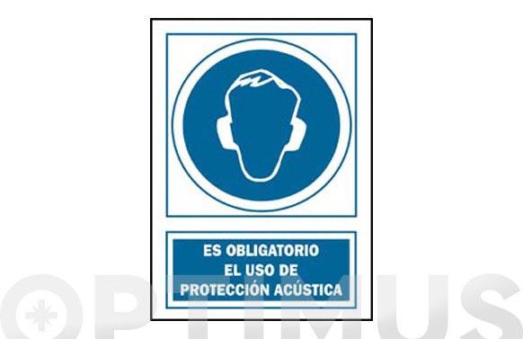 Señal obligacion catalan 420 x 300 mm proteccio acustica