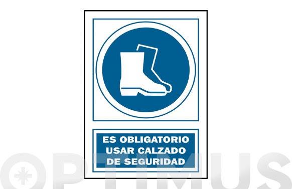 Señal obligacion castellano 297x210 mm calzado seguridad