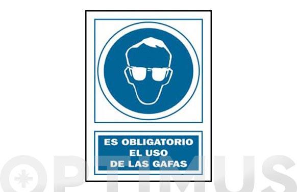 Señal obligacion catalan 297x210 mm ulleres seguretat