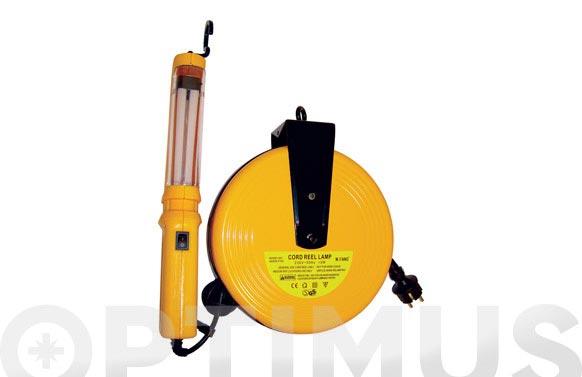 Lampara taller + enrollador electrico