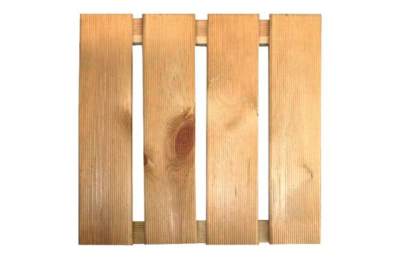 Baldosa de madera natural 28 mm 50 x 50 cm