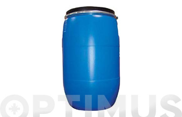 Bidon boca ancha azul homologado 220 l circular
