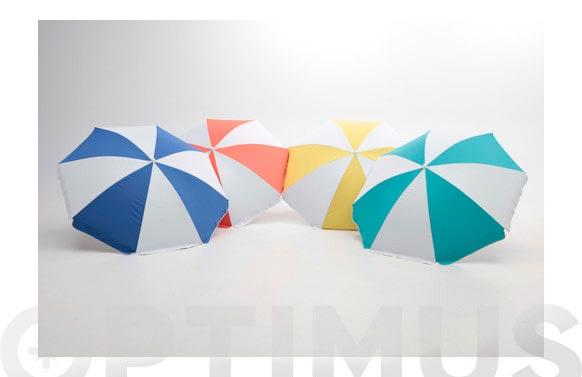 Parasol playa plegable upf50+ 180 cm poli-nilon multicolor