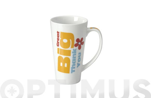 Mug porcelana caja regalo 480 ml thank you