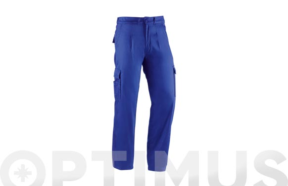 Pantalon algodon multibolsillo basico azulina t 54