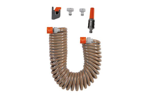 Manguera espiral flexible con accesorios 15 mt ø 9 mm