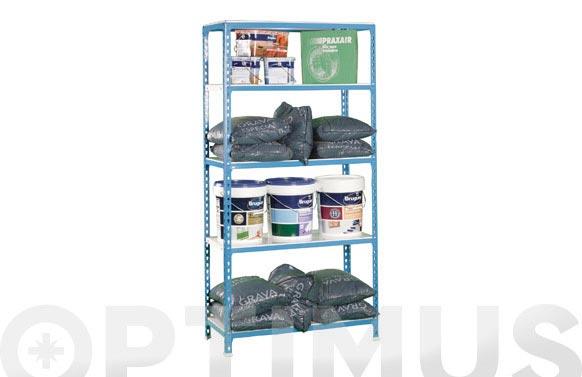 Estanteria sin tornillo simonclick 5 estantes 180 x 90 x 30 cm