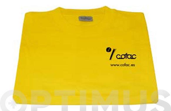 Camiseta algodon cofac amarilla t xl