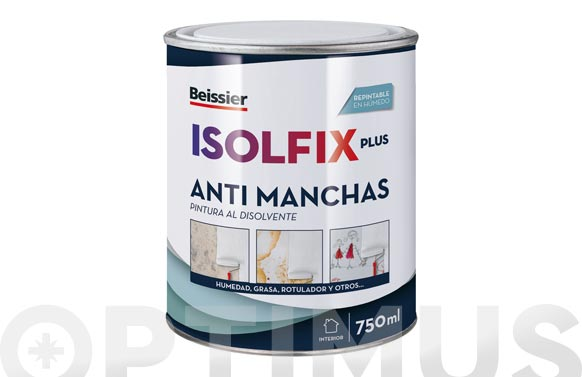 Pintura antimanchas isolfix plus 750 ml blanco