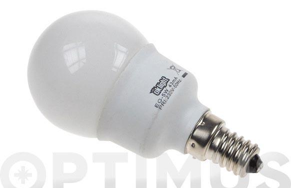 Bombilla bajo consumo mini esfera 5w e-14 827