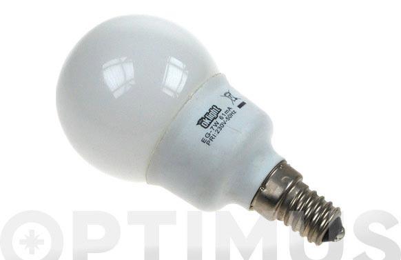 Bombilla bajo consumo mini esfera 7w e-14 827