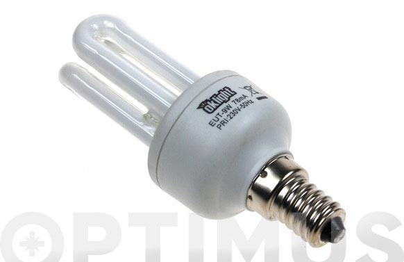 Bombilla bajo consumo micro 3 tubos 9w/860 e-14