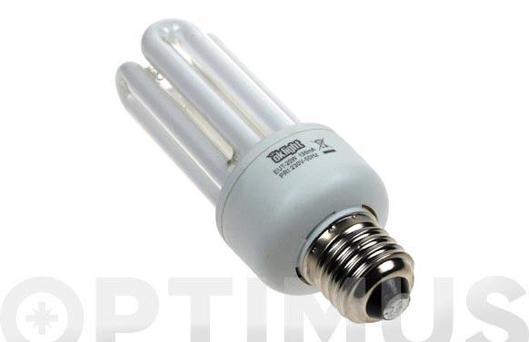 Bombilla bajo consumo 4 tubos 20w e-27 luz calida