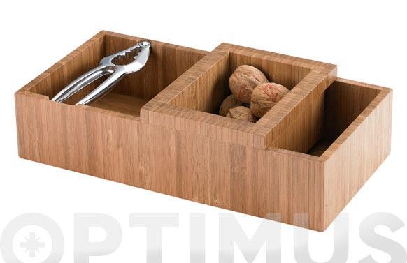 Cascanueces rectangular + bol bambu 21829