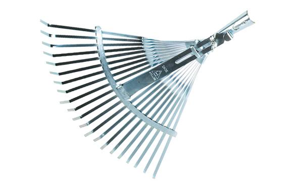 Escoba metalica acero 21 dientes planos regulable 38,5cm-48cm sin mango