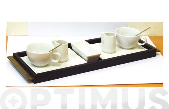 Taza cafe porcelana set duo