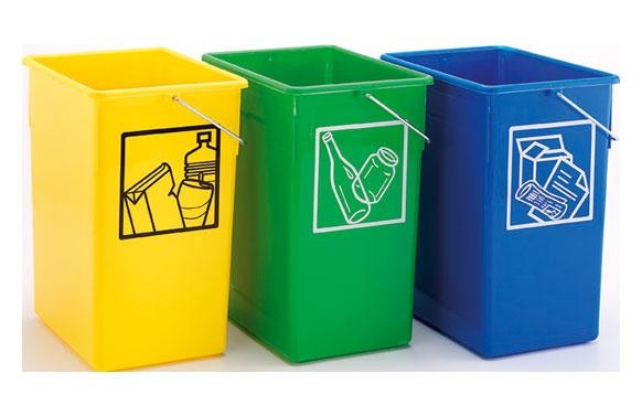 Cubeta reciclar 20x28x34 con asa 15l-amarillo