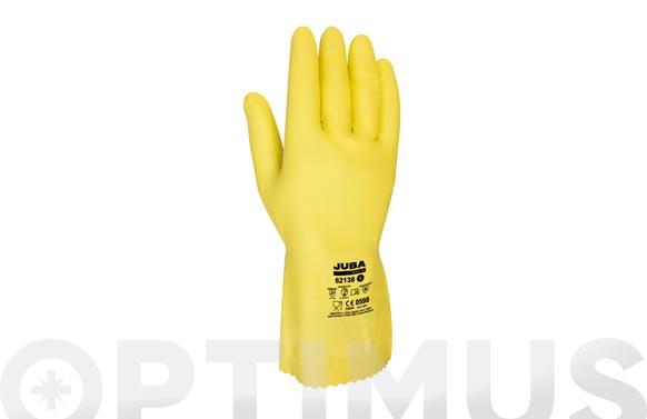 Guante latex amarillo flocado menaje t 7
