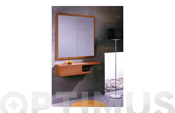 Recibidor mural 21x95x25 color cerezo