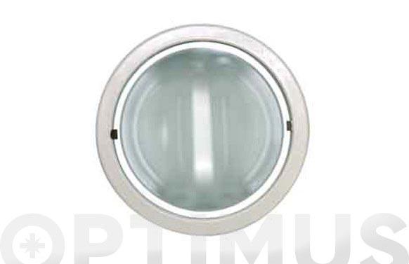 Empotrable redondo downlight 2x25w-blanco