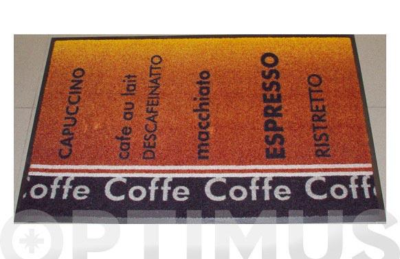 Alfombra domestica 75x120 cafe-marron