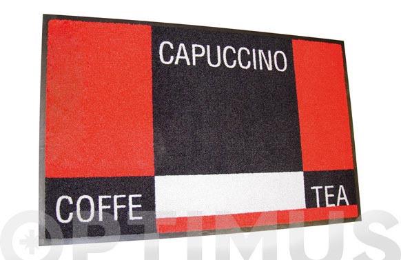 Alfombra domestica 75x120 cm cuadros rojo