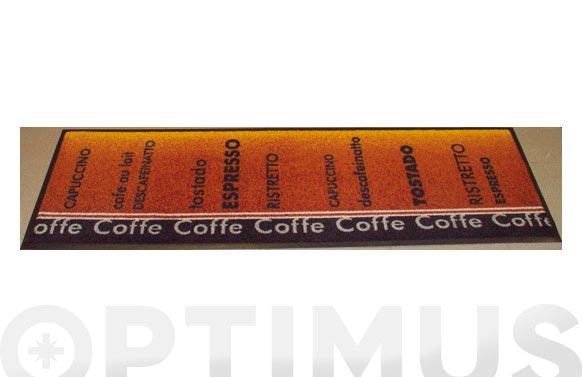 Alfombra domestica 60x180 cm cafe-marron