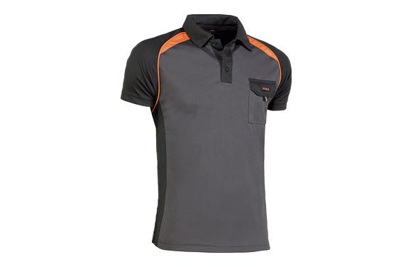 Polo top range coolway gris / naranja t m