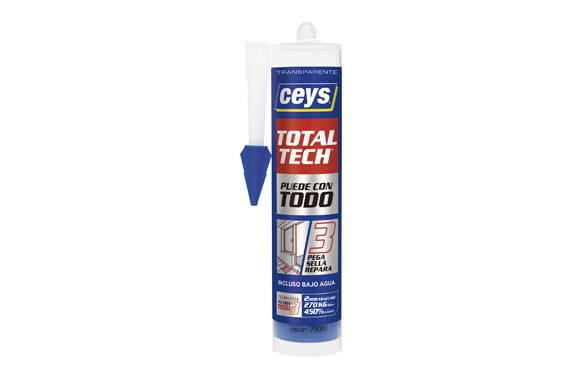 Adhesivo total tech transparente 290 ml