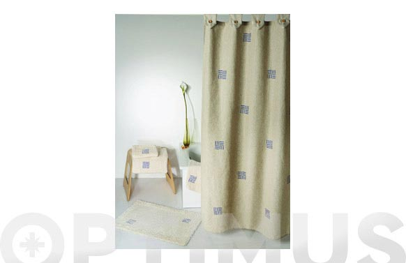 Cortina baño lino cuadrados 180 x 180 cm