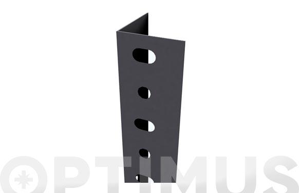 Angulo estanteria gris oscuro p/40 2500 mm