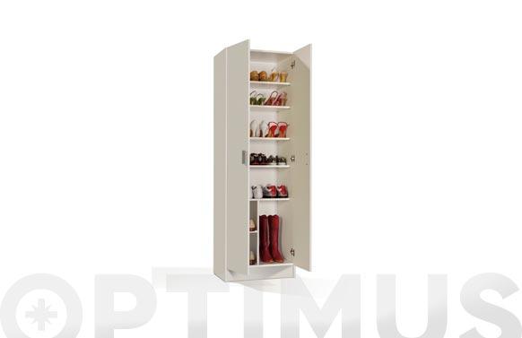 Armario multiuso estantes 2 puertas blanco 180 x 59 x 37 cm