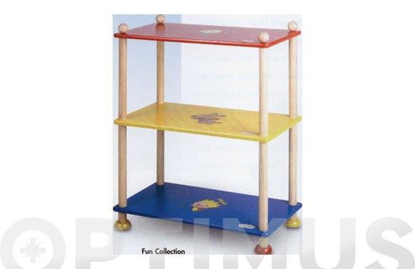 Estanteria madera 3 estantes infantil magda