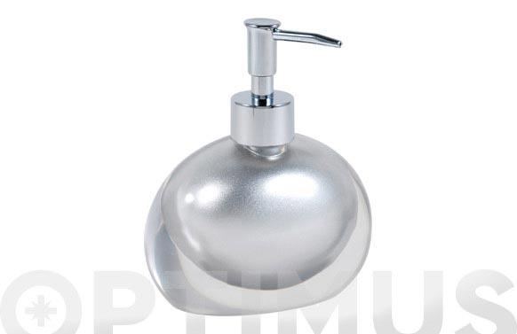 Dosificador baño resina plata