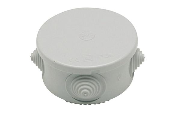 Caja estanca redonda ip55 80x50 mm con conos