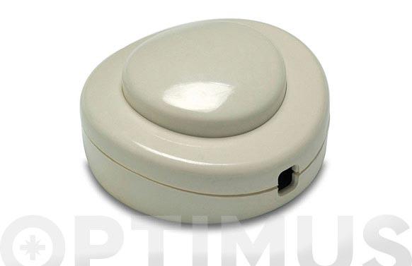 Interruptor de pie 2a-250v blanco